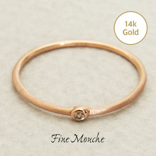 [FineMouche]Mini Cognac Diamond Ring