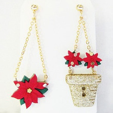 [Christmas 30% SALE]Poinsettia Earring 2