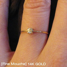 [Fine Mouche] 0.1ct Cubic Ring