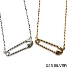 옷핀 Silver Necklace