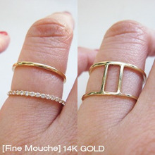 [Fine Mouche] Double Cubic Ring