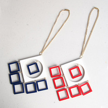 [HeCollection] Square Drop Necklace