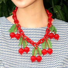 Vintage Cherry Necklace