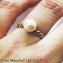 [FINE MOUCHE] Pink Pearl Ring