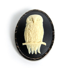 British Owl Brooch also Necklace