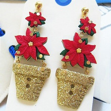 [Christmas 30% SALE]Poinsettia Earring 1