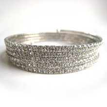 Tiny Crystal Wire Bangle